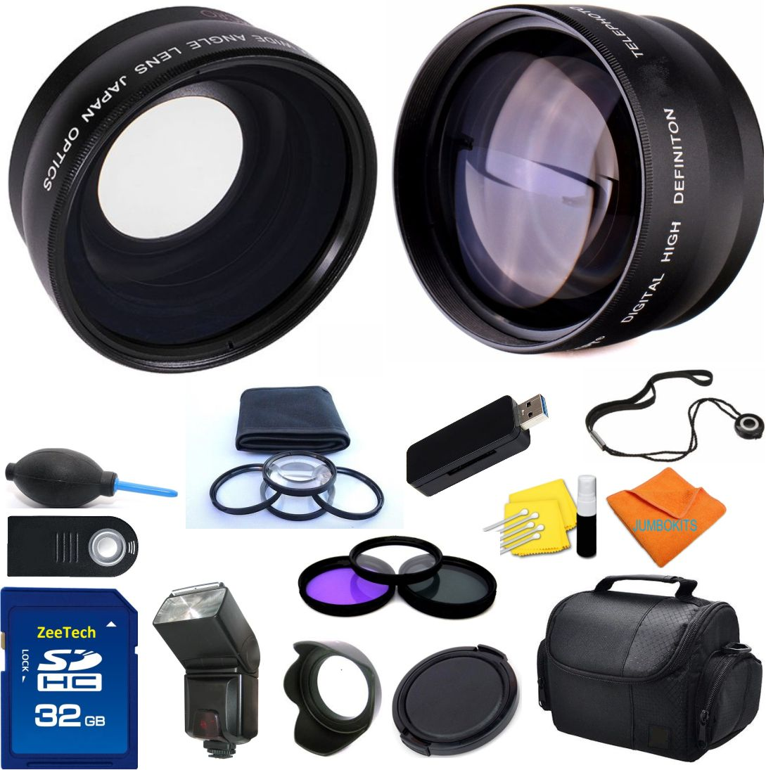Details About Canon Rebel T5 Eos 1200d Lens Filter Flash 32gb Professional Accessory Kit
